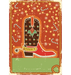 cowboy christmas card vector image