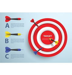 Dart and target infographic template Business con vector image vector image