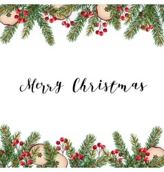 Decorative traditional merry christmas frame vector