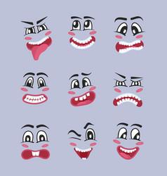 Emoji characters cartoon set vector