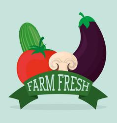 Farm fresh vegetables liifestyle healthy sticker vector