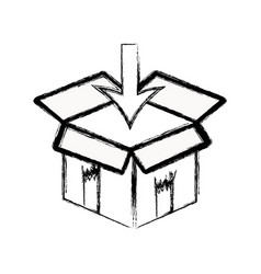 Figure box pack to delivery services vector