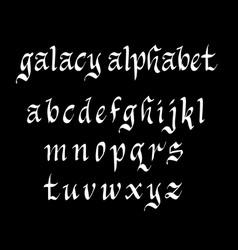 Galacy alphabet typography vector