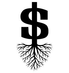Growing Dollars vector image vector image