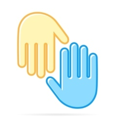Hand logo design template vector image