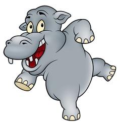 Happy hippo vector