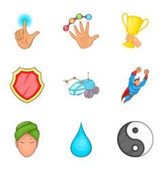 health correction icons set cartoon style vector image vector image
