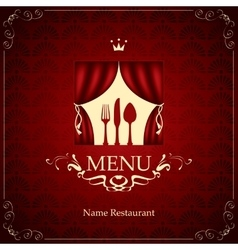 menu with the cutlery on the theater vector image