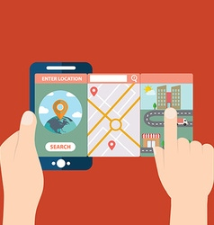 Mobile app for location and navigation vector