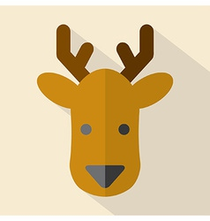 Modern Flat Design Deer Icon vector image