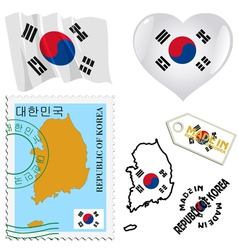national colours of South Korea vector image vector image