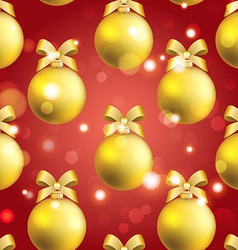 New year ball pattern christmas wallpaper with bow vector