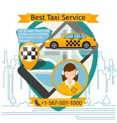 Public taxi creative poster vector
