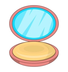 Puff-box icon cartoon style vector