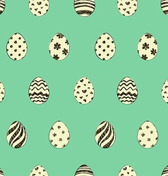 Retro Easter Seamless Pattern With Eggs vector image vector image