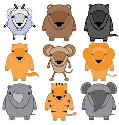 Set of baby animals cartoon vector