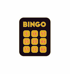 Table game bingo lotto board vector