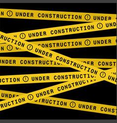 Under construction ribbons vector