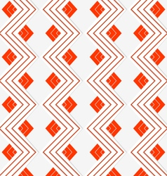 White embossed zigzag with red lines vector