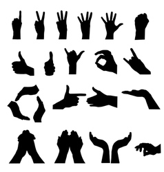 hand signal on white vector image