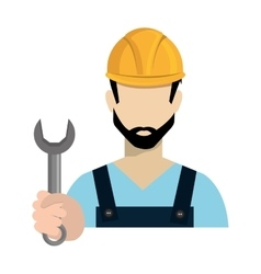 Avatar worker holding a wrench tool vector