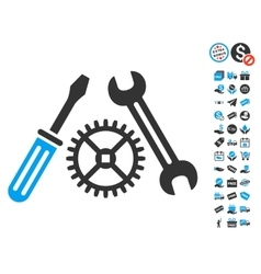 Tuning service icon with free bonus vector