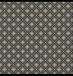 Monochrome rhombus geometric seamless pattern vector