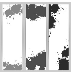 Vertical banners with grey paint splash vector