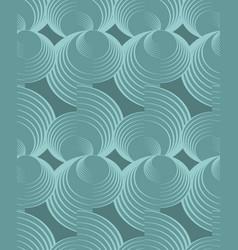 nostalgy green spiral patterns on dark green vector image