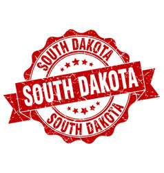 South dakota round ribbon seal vector