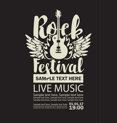 Banner for rock festival live music vector