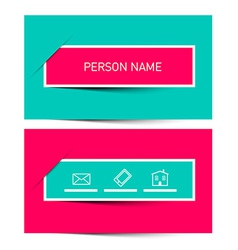Business card retro simple layout - template vector
