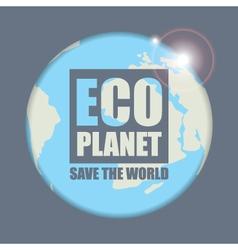 planet eco vector image