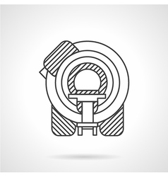 Flat line mri device icon vector