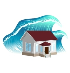 House flooding property insurance vector