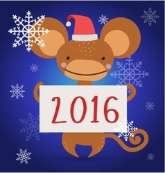 New year christmas monkey ape wild cartoon animal vector