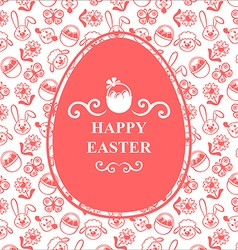 Easter muzzle egg pink vector