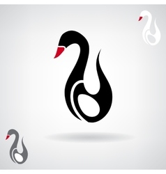 Stylized silhouette of a swan vector