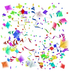 Confetti blast in different directions vector