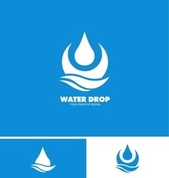 Water drop droplet logo icon vector