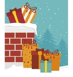 Happy merry christmas isolated icon design vector