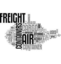 Air freight container text word cloud concept vector