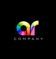 ar a r alphabet letter mosaic design vector image