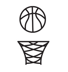 Basketball rim icon on white background vector