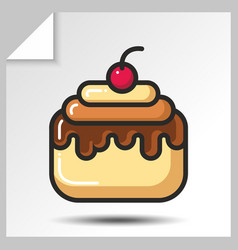 Cakes muffins sweets icons 8 vector