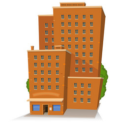 cartoon big building vector image vector image
