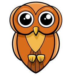 Cute owl animal character vector