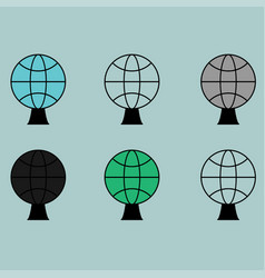 Globe or sphere different colour icon vector