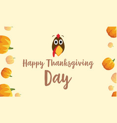 Happy thanksgiving day background turkey and vector