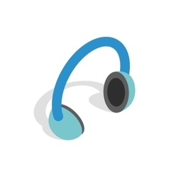 Headphones icon isometric 3d style vector image vector image